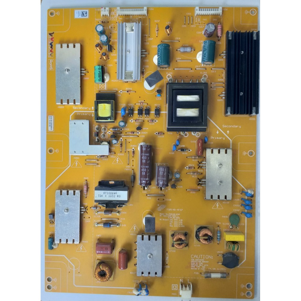 FSP145-4F07, ARÇELİK, TV 82-208 FHD, LED, T315HW05 V0, POWER BOARD, BESLEME