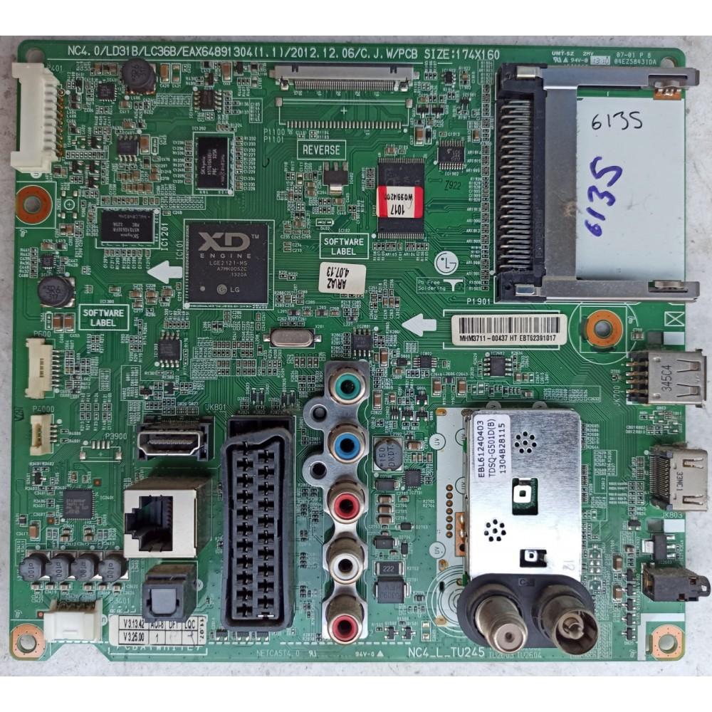 EAX64891304 (1.1), EBT62391014, LG 42LA613S-ZB, Main Board, LC420DUE (SF)(U2), LG Panel