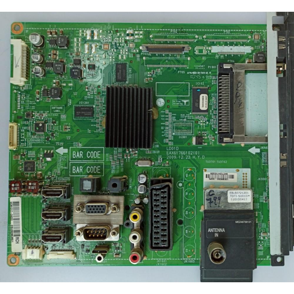 EBU60963651, EAX61766102(0), LG 42LE4500-ZA, MAIN BOARD, ANA KART