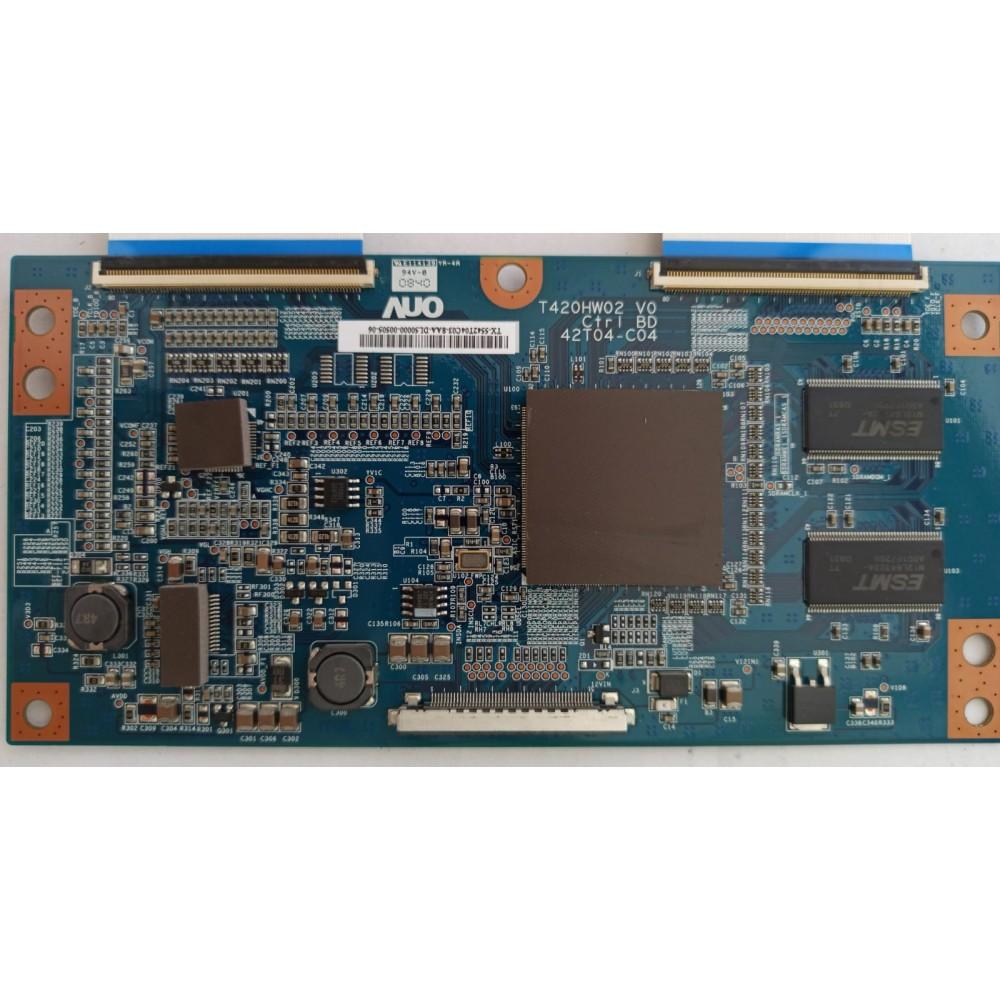 T420HW02 V0 Ctrl BD, 42T04-C04, T420HW02 V0, AUO, T400HW02 V0, T-CON BOARD, LG 42LG5000