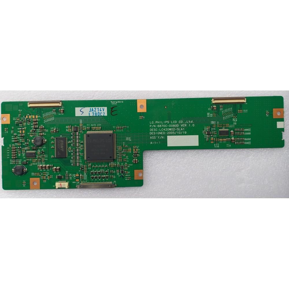 6870C-0080D, LC420W02-SLA1, LG, T CON BOARD