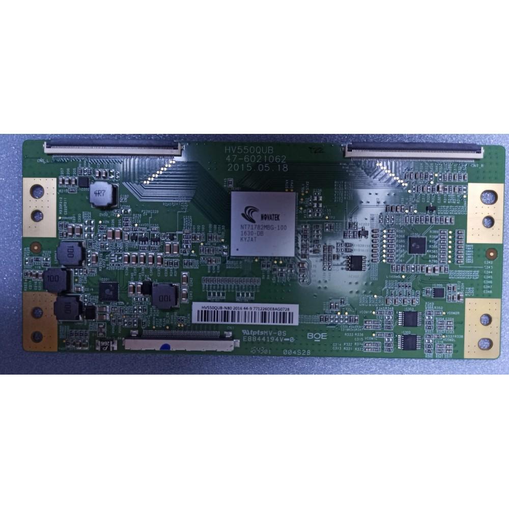 HV550QUB, 47-6021062 T-CON BOARD, TPT550J1-QUBN0.K, TPT550J1-QUBN0.K REV.S8940L, PHILIPS 55PUS6401 TCON BOARD