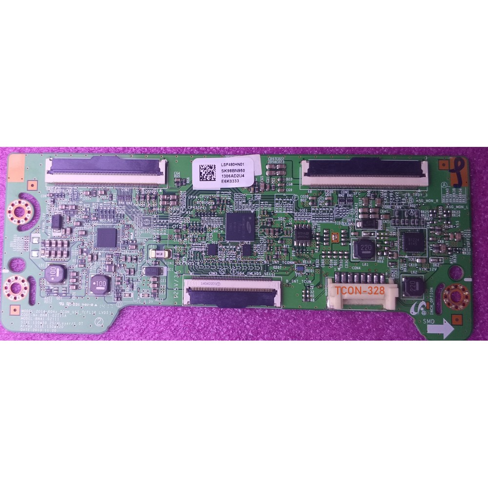 BN41-02111A, BN41-0211, LSF480HWN01, BN-9501893 2014_60HZ, SAMSUNG T-CON BOARD