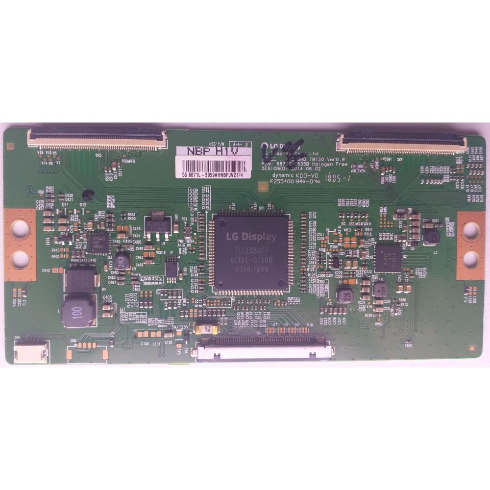 6870C-0535B, V15 UHD TM120, 55 6871L-3959AHNB, TCON BOARD