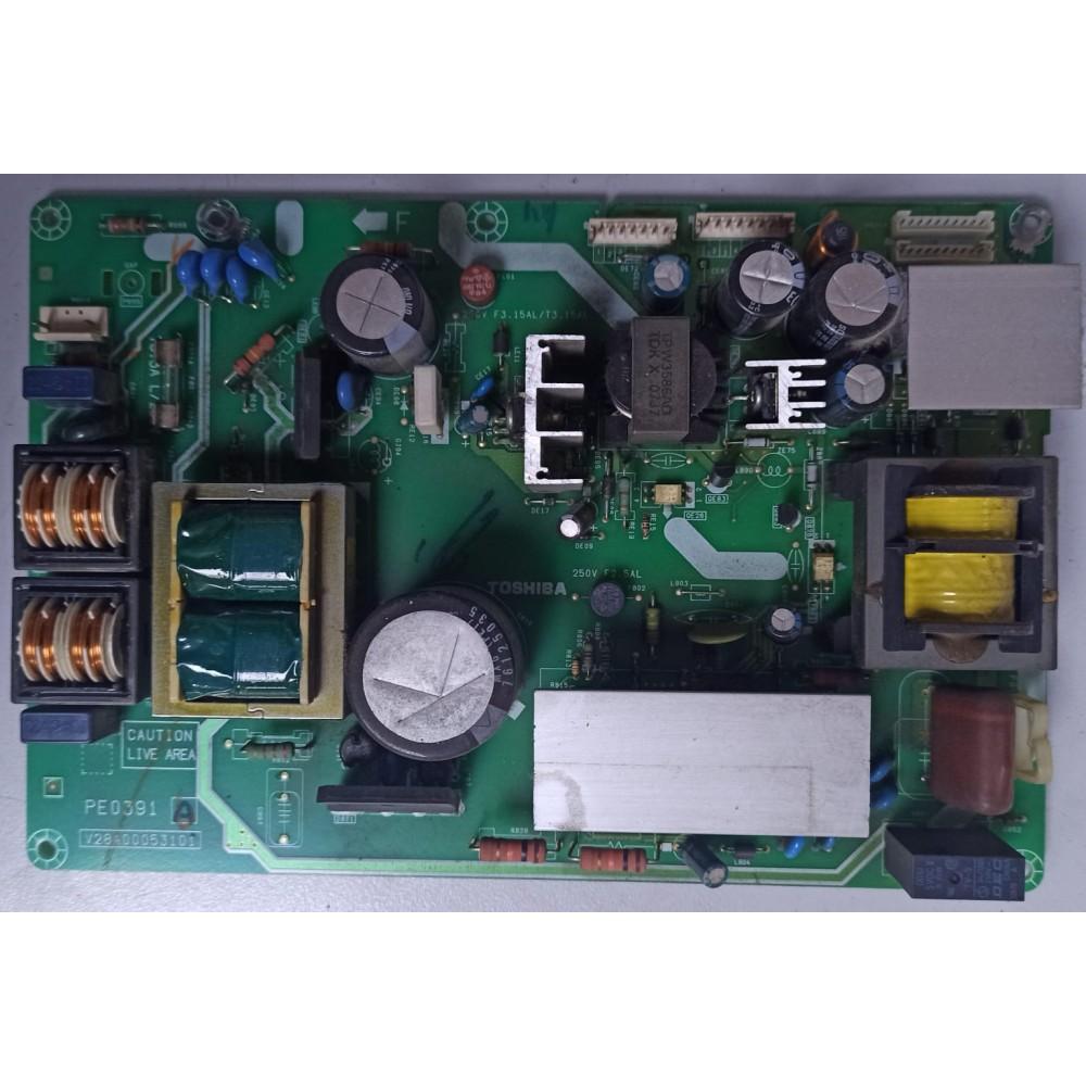 V28A00053101, PE0391, TOSHIBA, 37C3500P, 37A3000P, 37C3005P, POWER BOARD, BESLEME KARTI