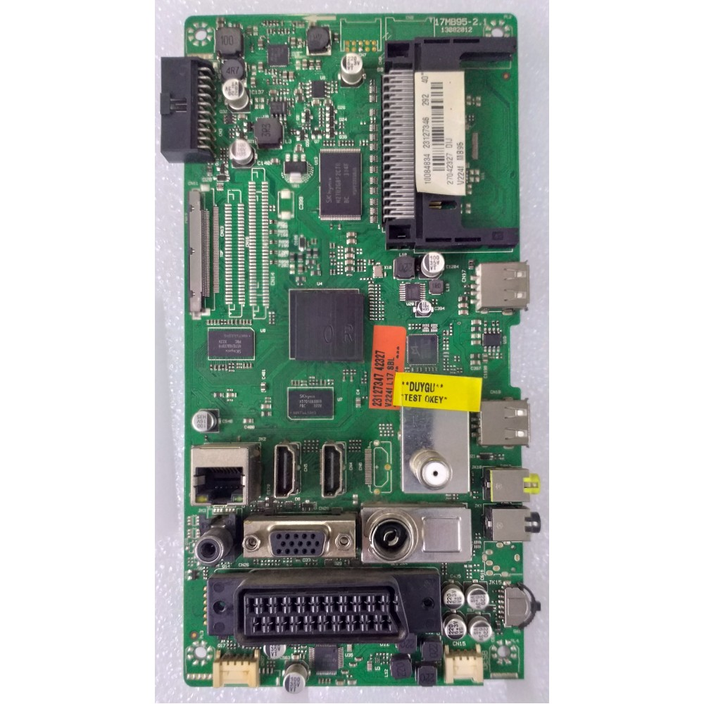 17MB95-2.1 , 23127346 , 10084725, VESTEL , 40 , 40PF7070 40 LED TV , MAİN BOARD