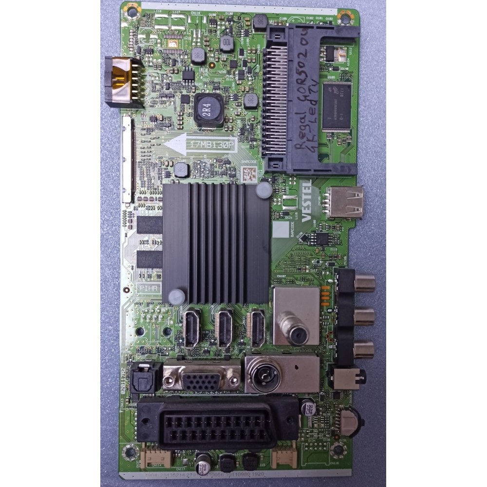 17MB130P, 23435214, Regal 40R5020U, Main Board, Ana Kart, VES400QNDS-2D-N11